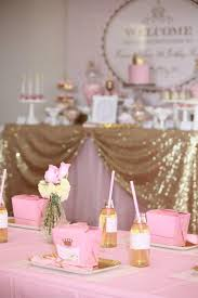 pink and gold baby shower decorations pink and gold princess party so many really ideas via kara s