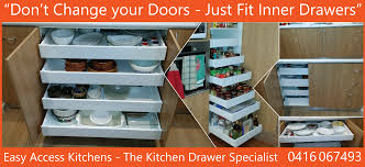 kitchen inner drawers perth kitchen drawer specialist easy