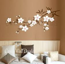 Cherry Blossom Wall Decal For Nursery Wall Decal Beautiful Flower Decals For Walls Large Flower Decals