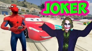 Lighting Mcqueen Halloween Costume by Lightning Mcqueen And Spider Man Became Friends With The Joker