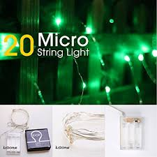 micro lights with timer amazon com 20 micro led green string lights with timer function st