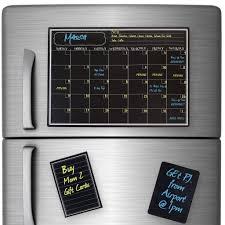 magnetic dry erase calendar with chalkboard design for kitchen