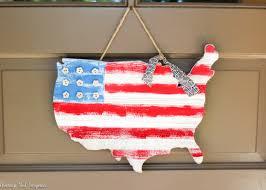 Fat Map Usa by Usa Wooden Flag Map Door Hanger