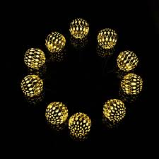 Round Solar Lights by Vandue Corporation Modern Home 12 Light 13 Ft Globe String Lights