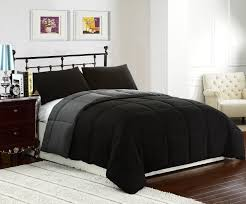 bedroom dark grey comforter design ideas combined with white wall