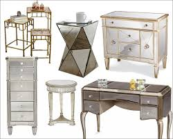Mirrored Desks Furniture Furniture Fabulous Silver Mirrored Chest Mirrored Dining Table