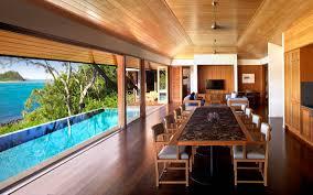 exterior voguish beach house designs ideas brown wooden floor