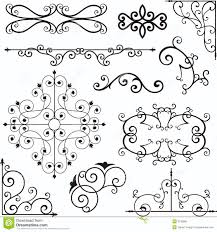 wrough iron ornaments stock vector illustration of craft 3739589