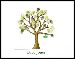 baby shower fingerprint tree baby shower bundle fingerprint guest book guest tree