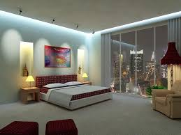 cool inspiration modern luxurious bedroom design with city view