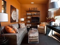 Gray And Orange Bedroom Rooms Viewer Hgtv