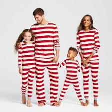 stripes sleeve top and set family matching pajamas