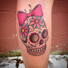 day of the dead sugar skull by nic lebrun tattoonow
