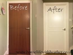 Home Interior Door by Home Life With Heather How To Add Panels And Paint Hollow Core