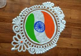 independence day special rangoli designs indian flag in rangoli