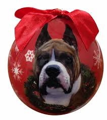 boxer christmas ornament shatter proof ball easy to personalize a