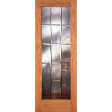 feather river doors 36 in x 80 in 15 lite unfinished oak clear