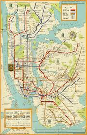 Large Vintage World Map by 1948 Large New York City Subway Map Mta Manhattan Brooklyn Art