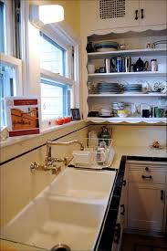 Victorian Kitchen Sinks by Open Shelves U0026 Vintage Sink Black Tiles Faucet And Vintage Sink