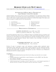 Maintenance Mechanic Resume Examples by Auto Mechanic Resume Haadyaooverbayresort Com