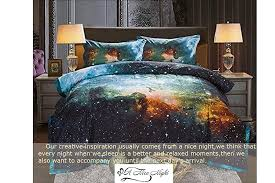 amazon com black and blue galaxy bedding sets 3d printed cloud