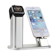 support de bureau pour smartphone nexgadget support en aluminium apple 2 en 1 station de recharge et