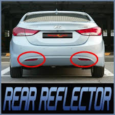 rear bumper hyundai elantra rear bumper reflector assembly 2p for 11 hyundai elantra avante md