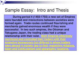 Ottoman Empire Essay Ming Ottoman Comparative Sle Essay