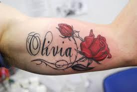 beautiful name in roses design tattoomagz
