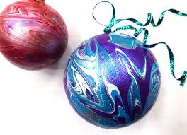 diy poured paint ornaments 100 directions