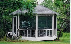 Screened In Pergola by Garden Allen Roth Gazebo Aluminum Roof Gazebo Outdoor