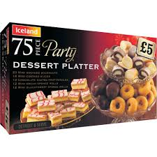 iceland party 75 piece dessert platter 948g party food