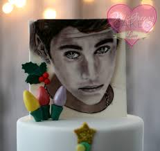 justin bieber christmas cake with painting tutorial mcgreevy cakes