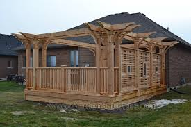 Deck Pergola Pictures by Builders Of Decks In Niagara Falls