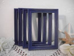 Rustic Shabby Chic Home Decor Navy Blue Frame Wedding Table Number Rustic Shabby Chic
