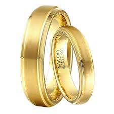 gold set for marriage 1 pair 6mm 4mm boy marriage rings set gold color