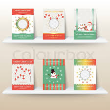 set of christmas layout template in a4 size design for cover