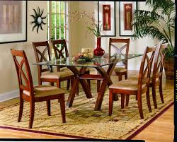 interior glass wood dining room table for magnificent dining