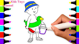 caillou cartoon coloring pages kids drawing learn colors