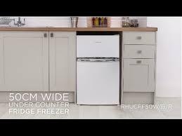 under cabinet fridge and freezer russell hobbs under counter fridge freezer rhucff50w b r youtube