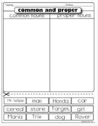 common and proper nouns common and proper nouns proper nouns