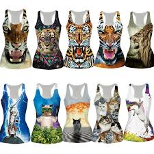 wholesale new bustier summer tight animals vest cat t shirts