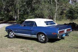 mustang shelby gt500 convertible 1968 shelby gt500 convertible 151399