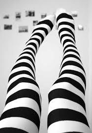 Black White Striped Halloween Costume Halloween Costume Knit Boot Knee Thigh Socks