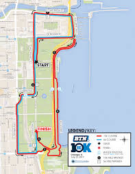 Chicago Il Map by Race Course Btn Big10k
