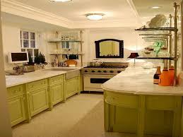 small galley kitchen with nice green color idea the best galley
