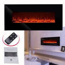 Contemporary Electric Fireplace Black Electric Fireplace Ebay