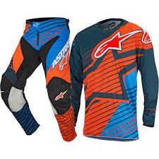 childrens motocross boots alpinestars 2017 racer braap petrol aqua fluro orange gear set at