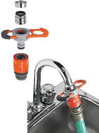 kitchen faucet splitter indoor faucet adapter for garden hose splitter home depot