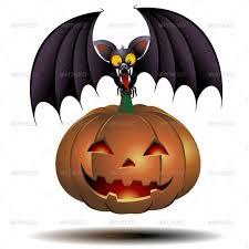 halloween cat png halloween bat cartoon and pumpkin by bluedarkat graphicriver